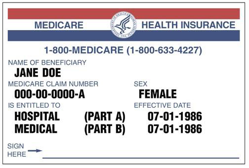 Here is a image of a Medicare card.